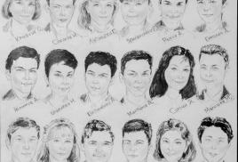 25 апреля 2016 Коллективный портретный шарж на 27 человек